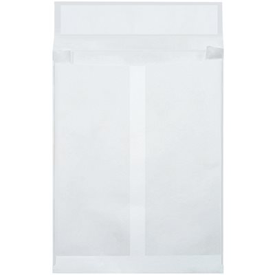 "10 x 13 x 2"" White Expandable Tyvek® Envelopes"