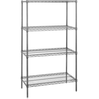 "36 x 12 x 86"" - 4 Shelf Wire Shelving Starter Unit"