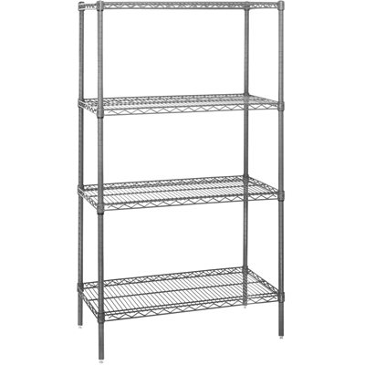 "60 x 36 x 74"" - 4 Shelf Wire Shelving Starter Unit"